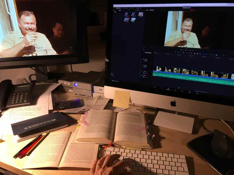 Am Schreibtisch mit Ernest Hemingway