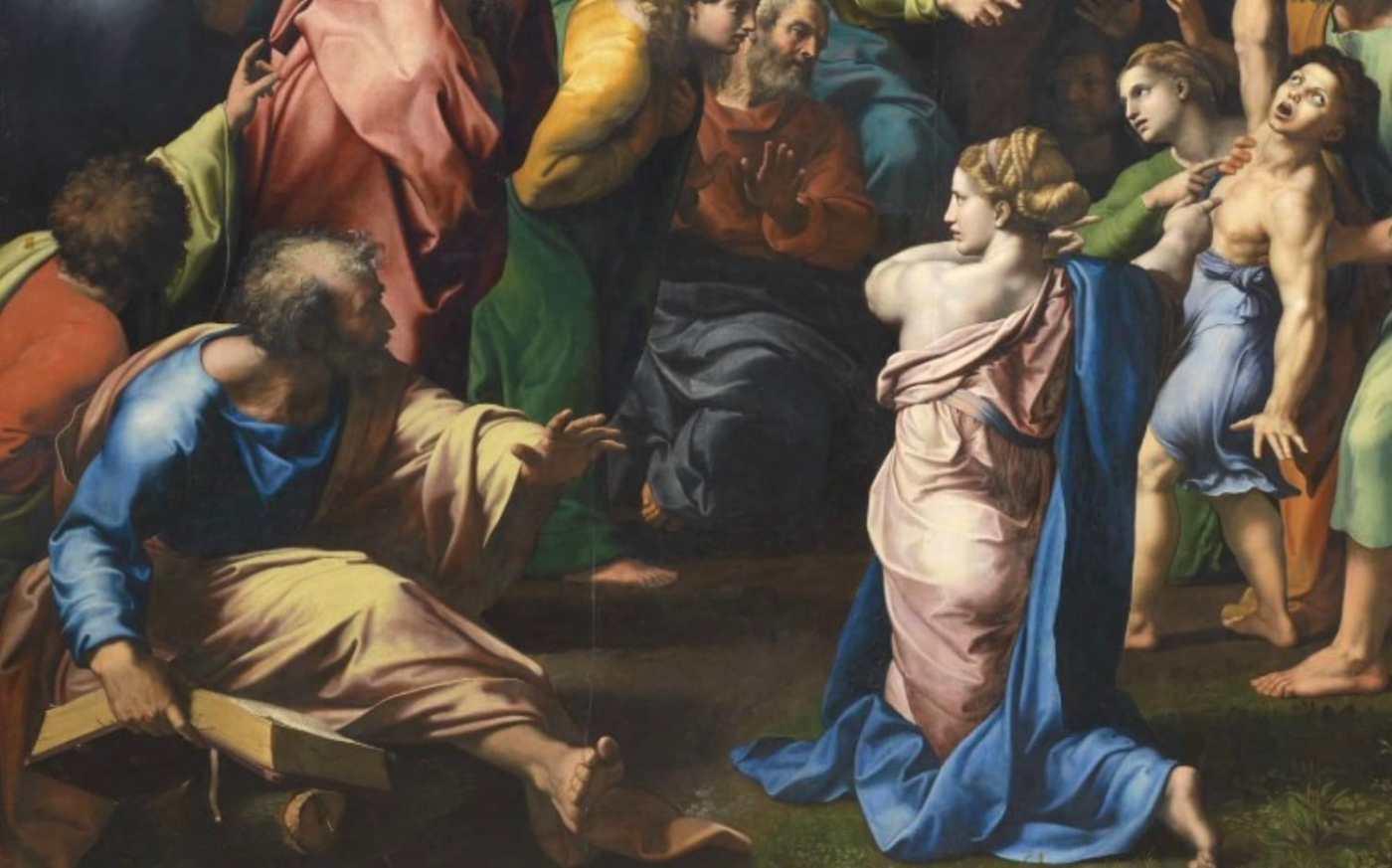 Raffael Die transfiguration Ausschnitt_li_u