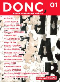 Sortie de Donc revue sonore de poésie le 1er septembre