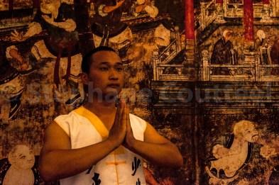 Moine Shaolin sur toile