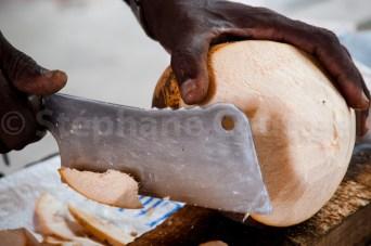 Eau de coco - Marché de Victoria - Mahé - Les Seychelles