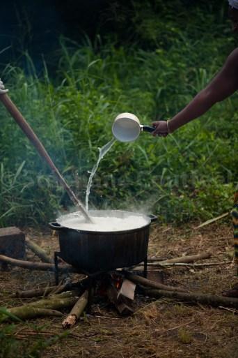 Riz au feu de bois - Coconi - Mayotte