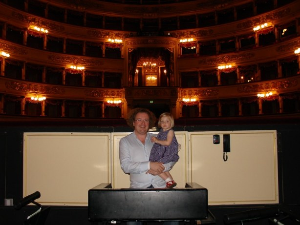 Stéphane and Alma in the pit of La Scala