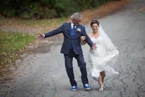 Nouveaux mariés en automne