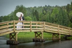 Les mariés sur le pont