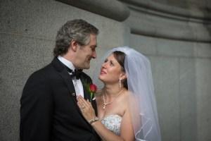 Splendide mariage urbain dans le Vieux-Montréal