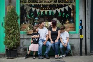 Sympathique séance famille et lifestyle dans le Vieux-Montréal