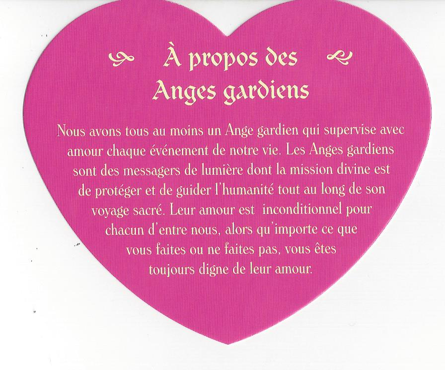 Ange Gardien - Cartes Le Petit Oracle des Anges Gardines - Toni Carmine Salerno