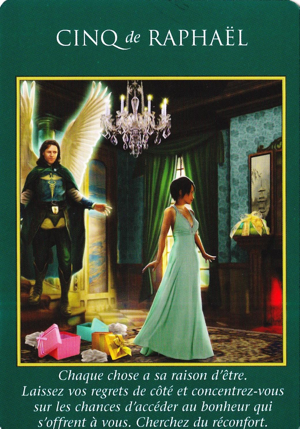 02- Cinq de Raphaël - Le Tarot des Archanges - Doreen Virtue 001