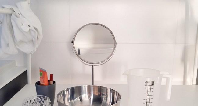 Een mini badkamer in onze badkamer