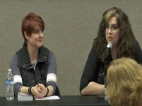 Stephanie A. Cain and Jennifer Foehner Wells at ACPL panel