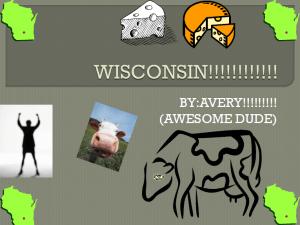 Avery's cover slide on Wisconsin
