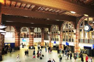 Inside Amsterdam Centraal station