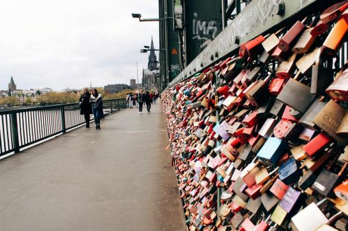 Hohenzollern Bridge love locks