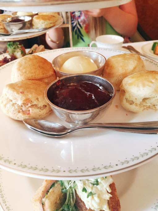 scones with cream and jam at Betty's