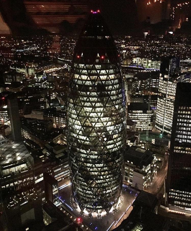 View of London from Heron Tower