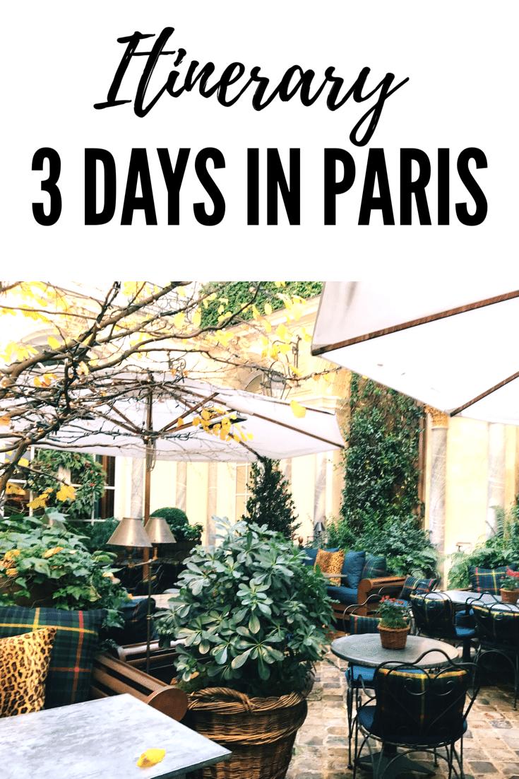 3 days in Paris