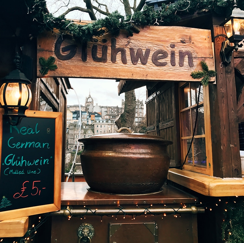 Gluhwein at Edinburgh's Christmas market