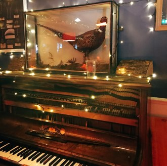 Pub at Edinburgh's Christmas market