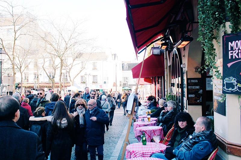 Montmartre cafes