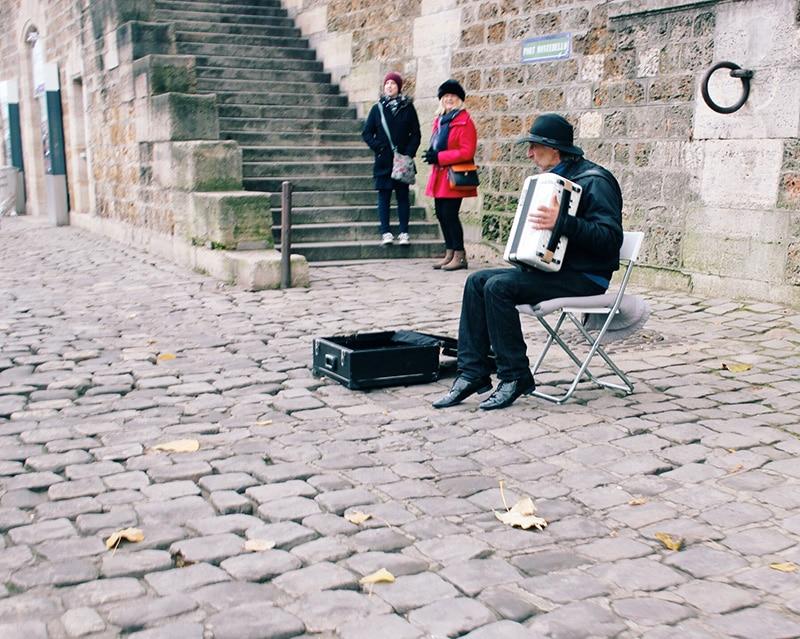 Musician, Notre Dame, Paris