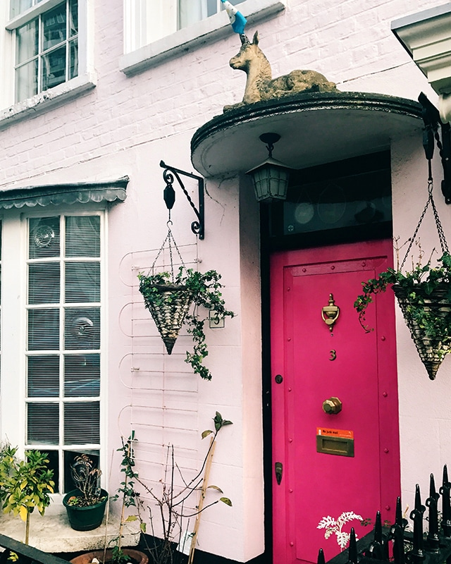 Notting Hill pink door
