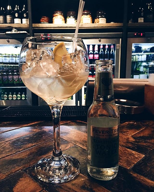 Bealim House gin cocktail