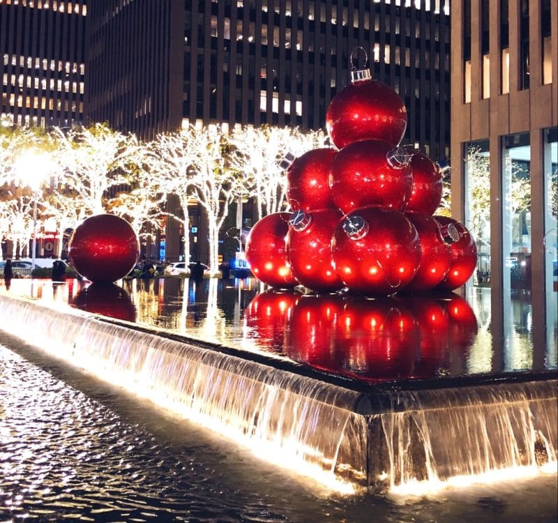 Festive photos of New York