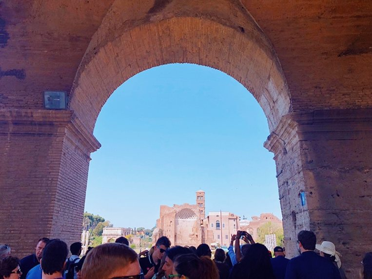 Visiting the Colosseum, Rome