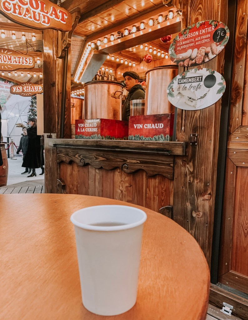 mulled wine at paris christmas market