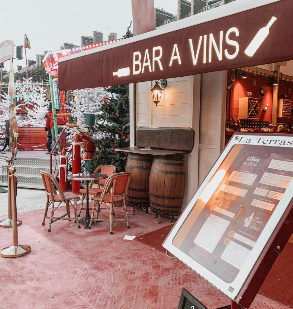 wine bar at paris christmas market