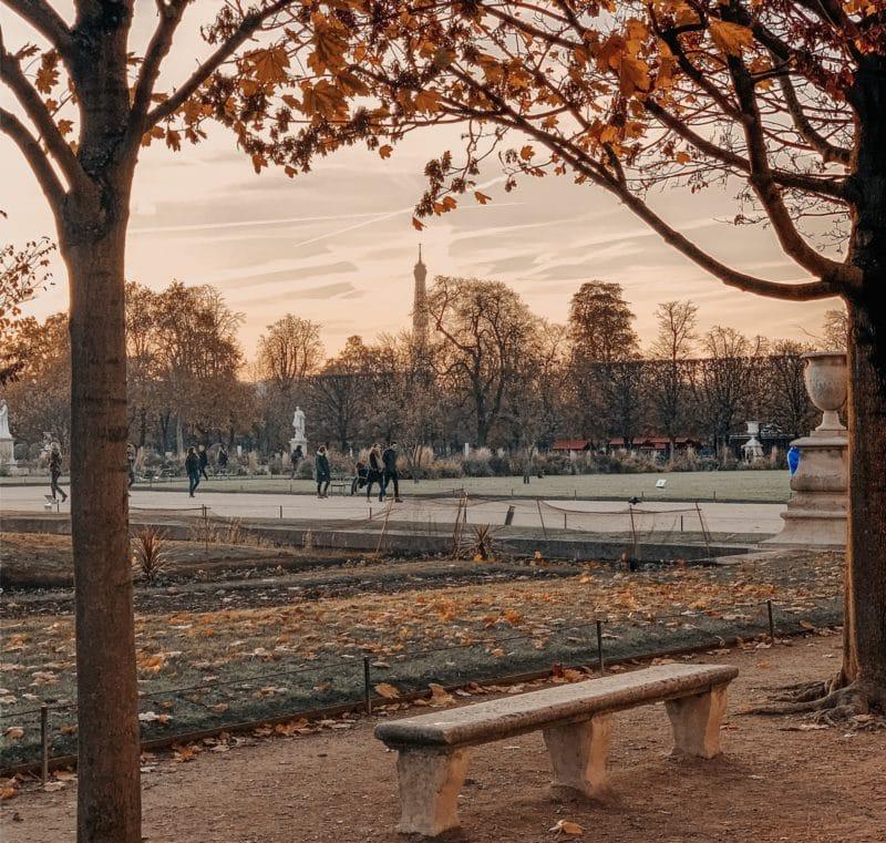 Eiffel Tower from Tuileries Garden