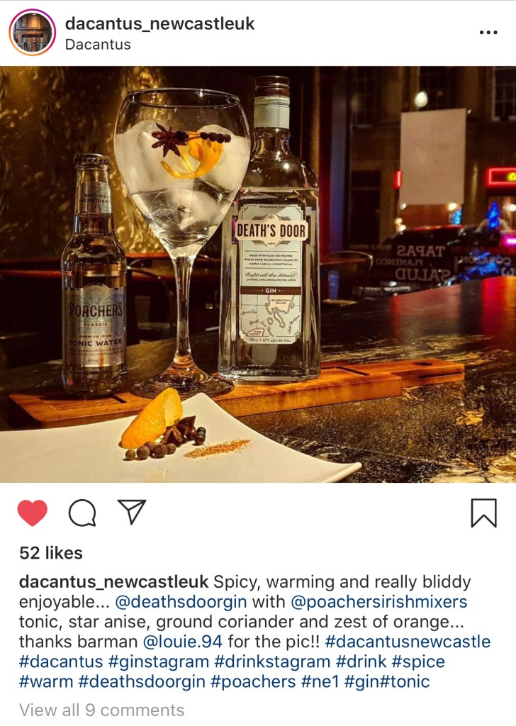 dacantus newcastle christmas gin