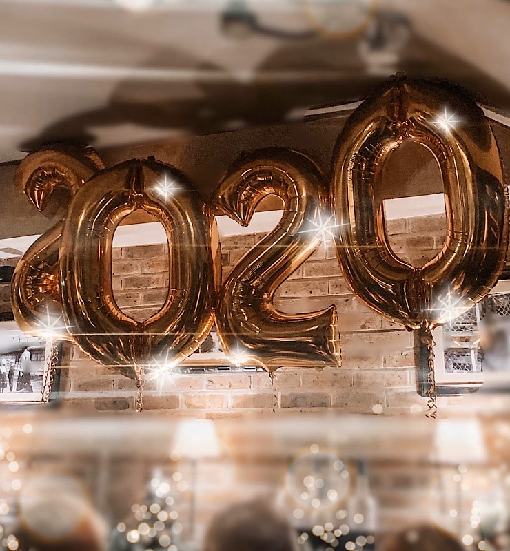 2020 new year balloons