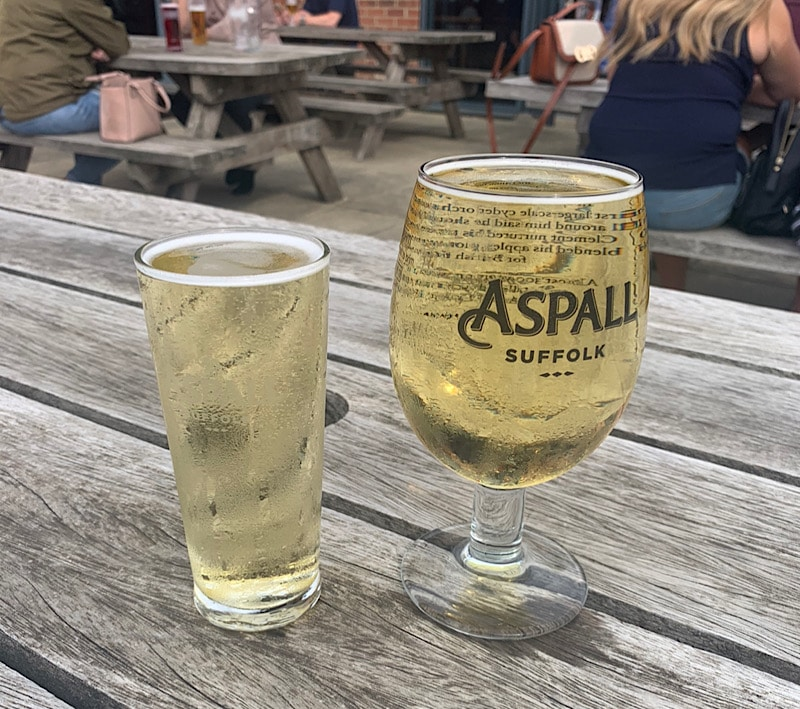 Aspalls at the pub