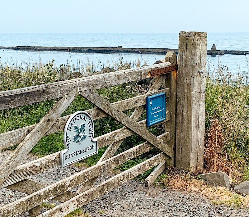 National trust sign at Craster