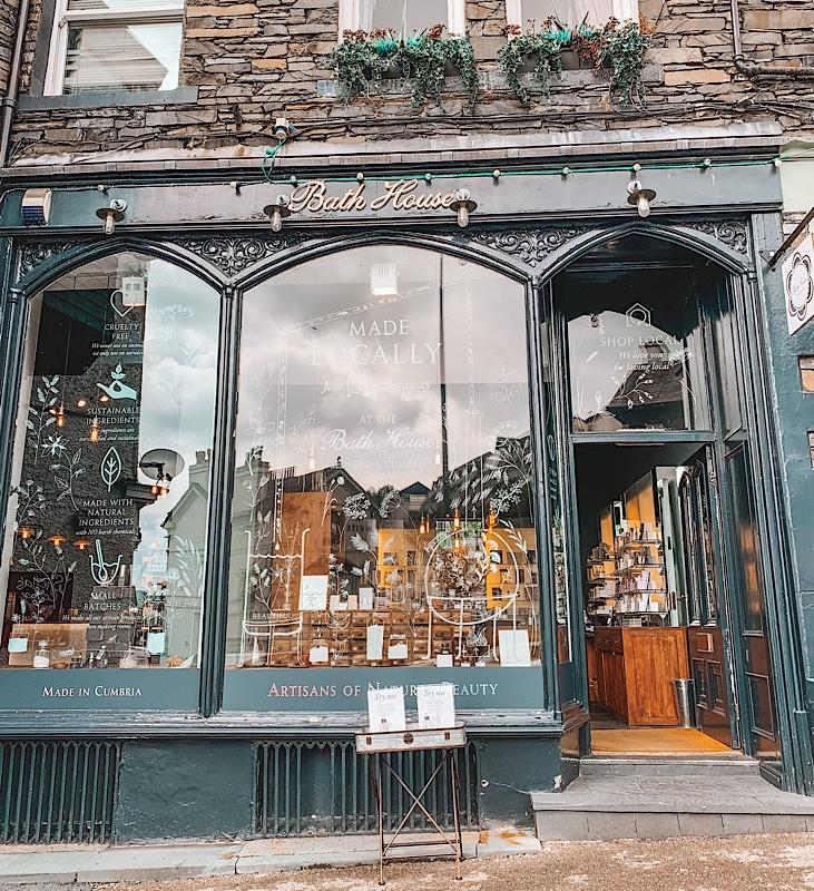 The Bath House shop front Ambleside