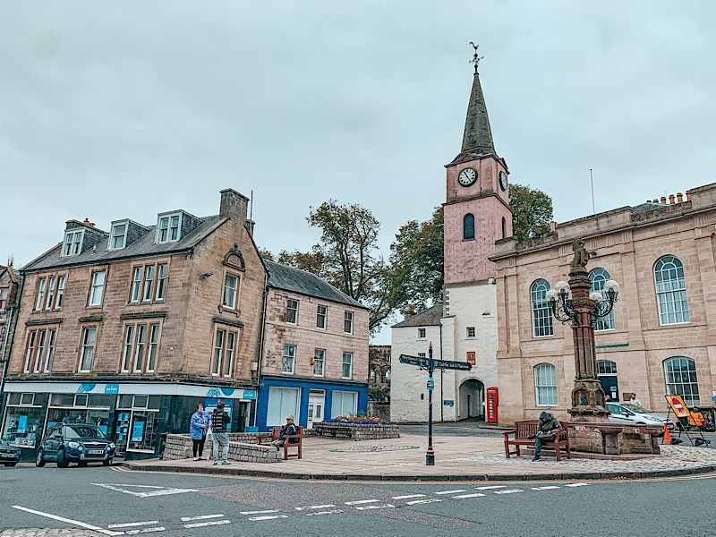 Jedburgh town centre, Scottish Borders