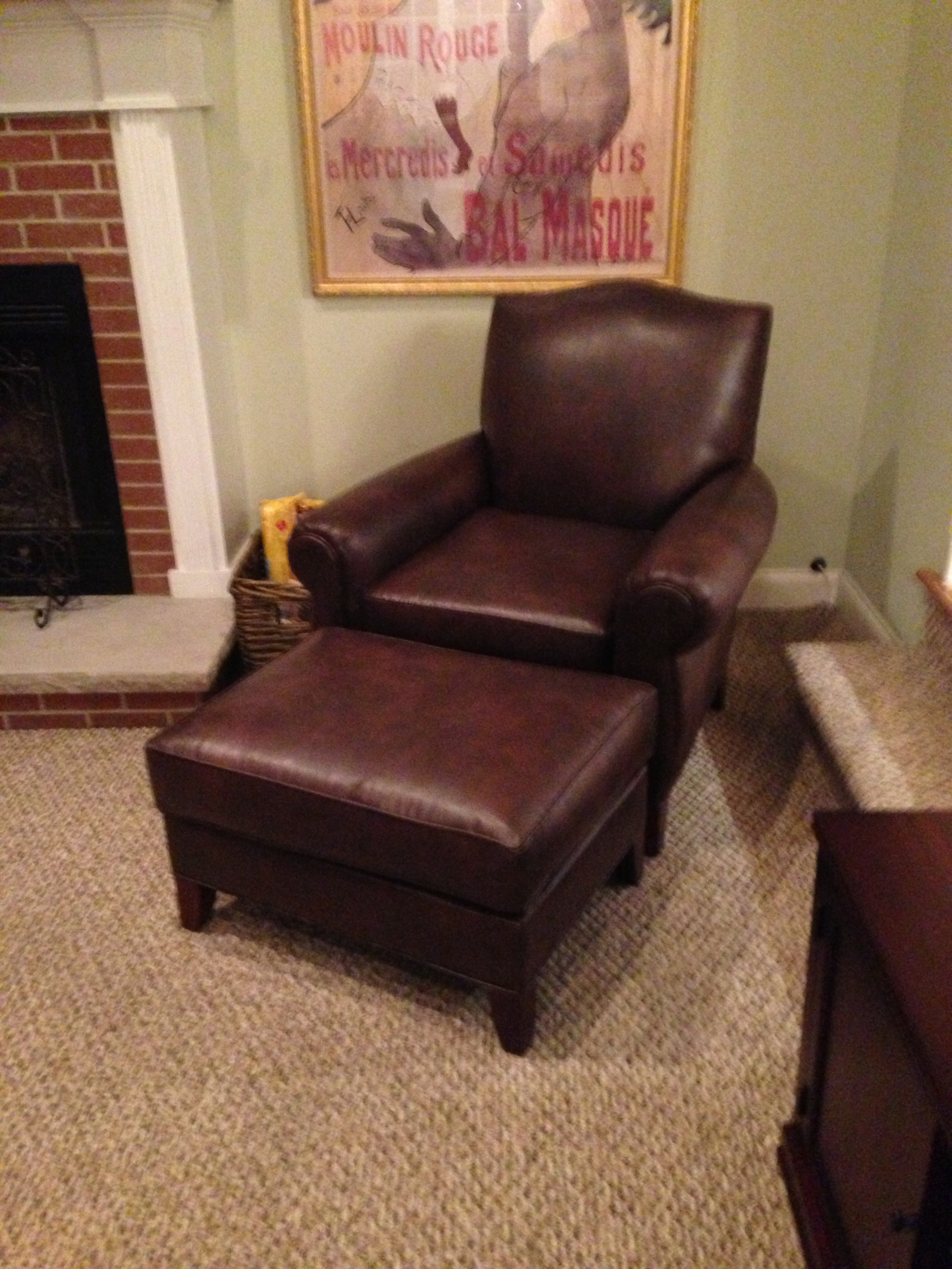Furniture Alluring Leather Chair And Ottoman For Cozy Home Furniture Ideas