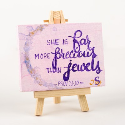 Mini Easel Painting Prov 31:10