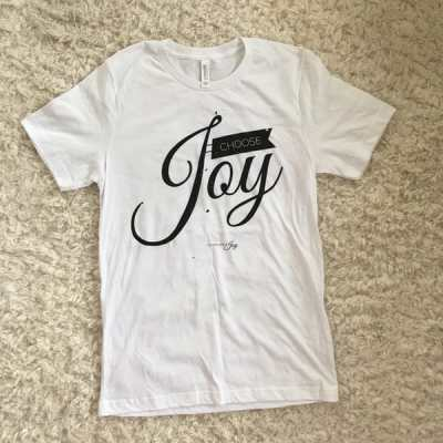Choose Joy White Tee
