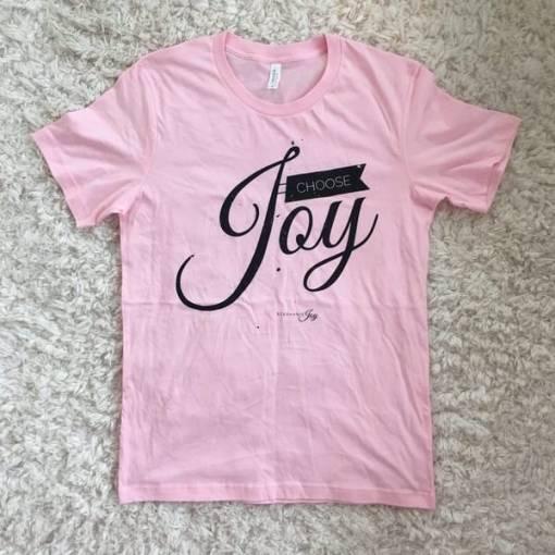 Choose Joy – Soft Pink Tee