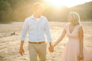 Palisades-Kepler state park engagement session during sunset.