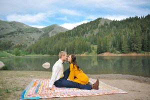 Utah mountains engagement photography