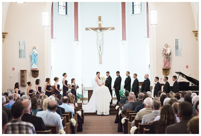 Stephanie Marie Photography Sacred Heart Church Grand River Center Monticello Dubuque Iowa City Wedding Photographer Tom Lindsay 11