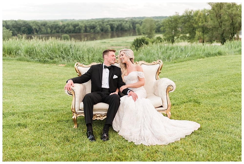 Ben Erin Dittmer Glamorous Chic Tpc Deere Run Wedding Quad