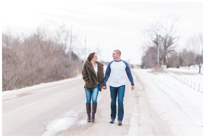 Stephanie Marie Photography Winter Engagement Session Iowa City Wedding Photographer Chelsey Justin_0011.jpg