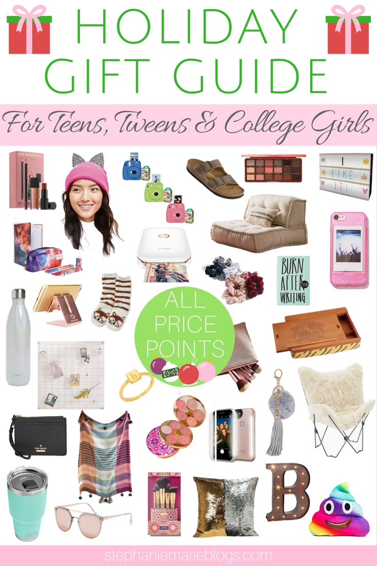 holiday gift guide for girls holiday gift guide for teens tween christmas gifts - Christmas Gifts For College Girl