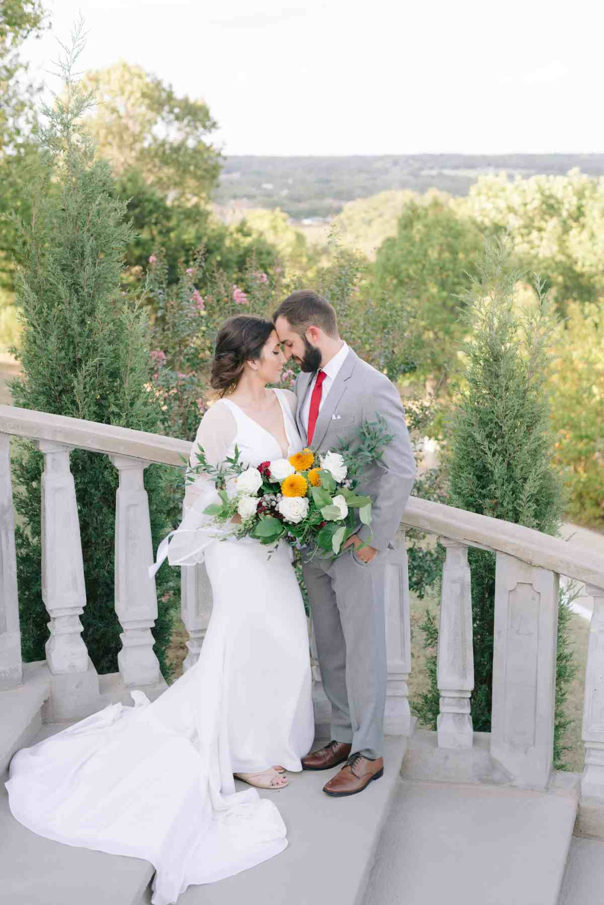 Romantic Bride and Groom Portraits at Stoney Ridge Villa Italian Wedding Azle Texas