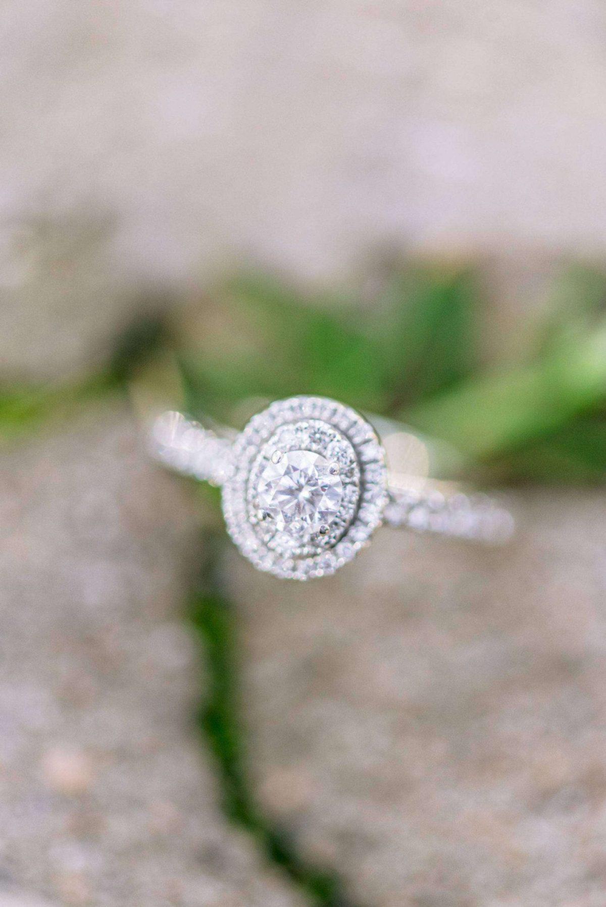 princess cut diamond engagement ring at laguna gloria in austin texas